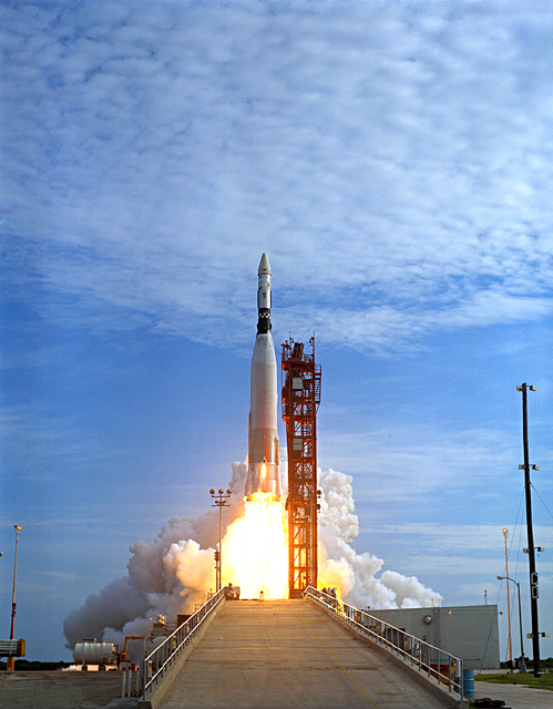 The Mercury Atlas rocket (shown here) was first developed as an Air Force Intercontinental Ballistic Missile. These photos were gathered by Honie Lui, of Independence High School, Independence, Ohio, in May, 2005, as part of a Senior Shadowing Project.