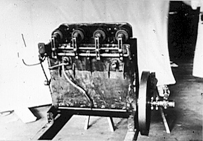 Picture of the Wright Brothers first engine.